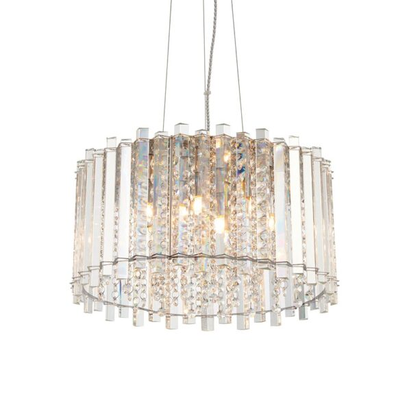 Endon Hanna crystal 5 lamp pendant ceiling light main image
