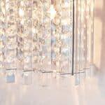 Endon Hanna Flush Mounted 1 Lamp Crystal Wall Light Polished Chrome