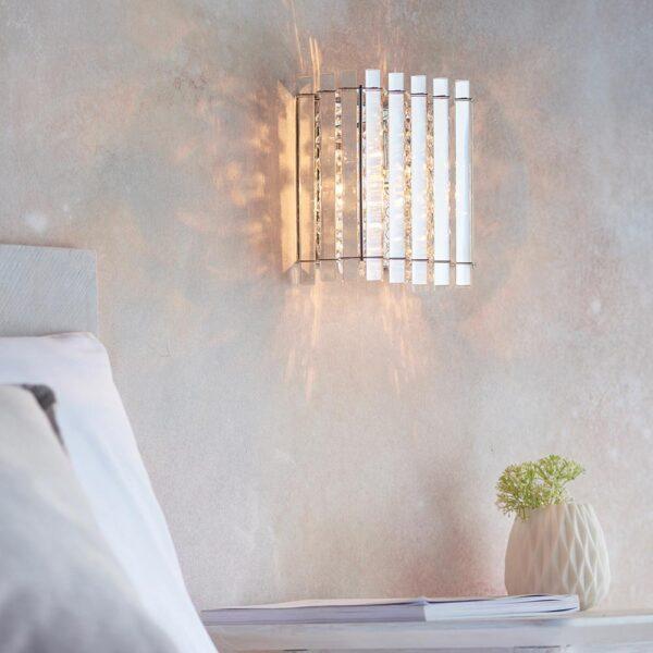 Endon Hanna crystal 1 lamp flush mount wall light main image