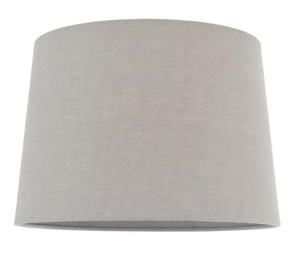 "Mia Lined 12"" Charcoal Linen Small / Medium Table Lamp Shade"