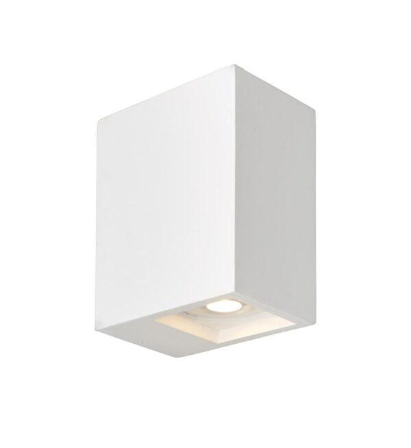 Endon Tor 2 Lamp LED White Plaster Rectangular Box Wall Washer Light