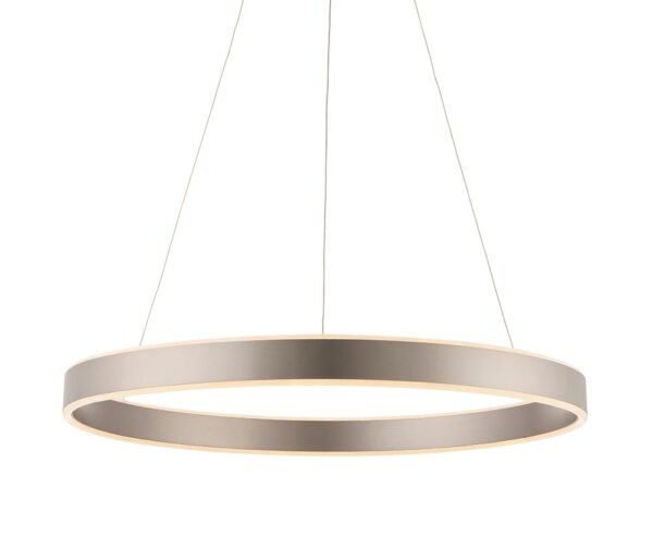 Endon Gen Dimmable 43w LED Ring Pendant Ceiling Light Matt Nickel