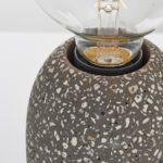 Terrazzo Small 1 Light Modern Table Lamp Black