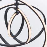 Endon Avali Sculpted 4 LED Hoops Ceiling Pendant Matt Black