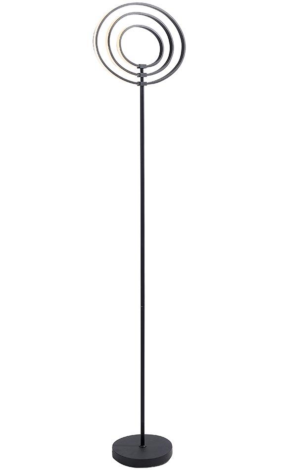 Endon Avali Sculpted 3 LED Hoops Floor Lamp Matt Black