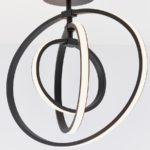 Endon Avali Sculpted 3 LED Hoops Flush Ceiling Light Matt Black