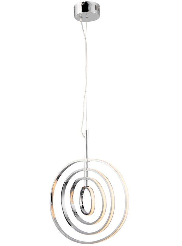 Endon Avali Sculpted 4 LED Hoops Ceiling Pendant Chrome