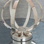 Endon Ritz 1 Light Open Globe Table Lamp Base Polished Nickel