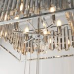 Endon Acadia 6 Light Modern Ceiling Pendant Chrome Crystal