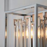 Endon Acadia 1 Light Modern Wall Light Polished Chrome Crystal