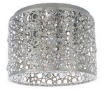 Endon Fayola 5 Lamp Flush Mount Ceiling Light Chrome K5 Crystal