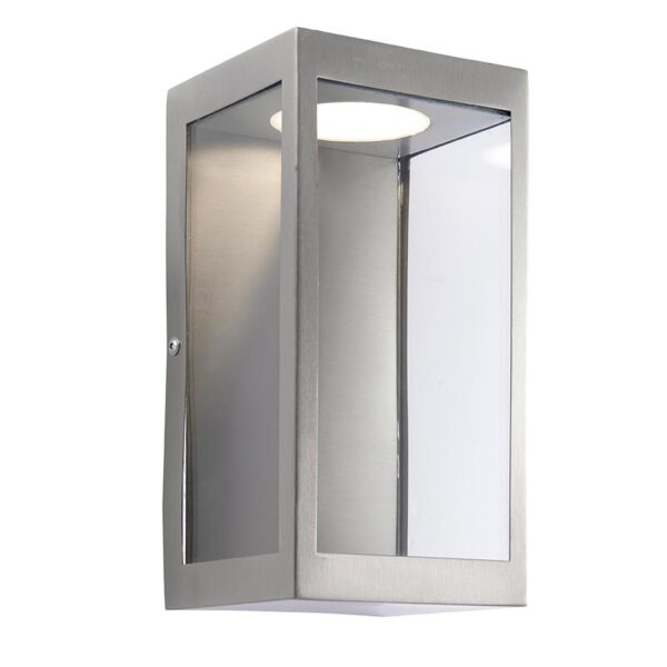 Endon Dean 11w LED Outdoor Box Wall Lantern Stainless Steel IP44