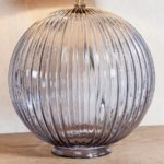 Endon Jemma 1 Light Smoked Ribbed Glass Table Lamp Base Only