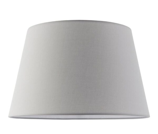 """Evie Tapered 14"""" Light Grey Cotton Table / Ceiling Lamp Shade"""