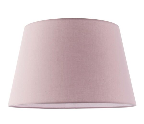 """Evie Tapered 14"""" Pink Cotton Table / Ceiling Lamp Shade"""