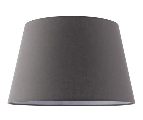 """Evie Tapered 14"""" Charcoal Cotton Table / Ceiling Lamp Shade"""