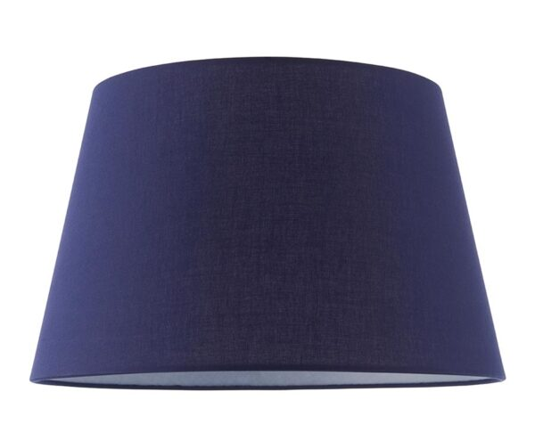 """Evie Tapered 14"""" Navy Blue Cotton Table / Ceiling Lamp Shade"""