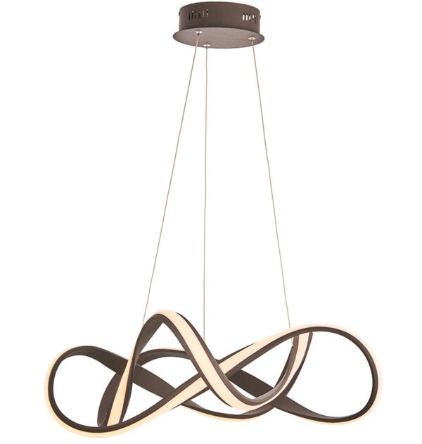 Endon Synergy Dimmable LED 63cm Pendant Ceiling Light Coffee