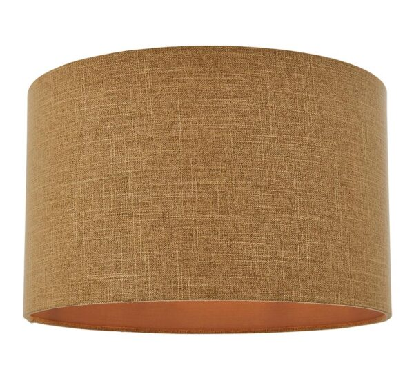 """Emma Putty Faux Silk 18"""" Cylinder Table / Floor Lamp Shade"""