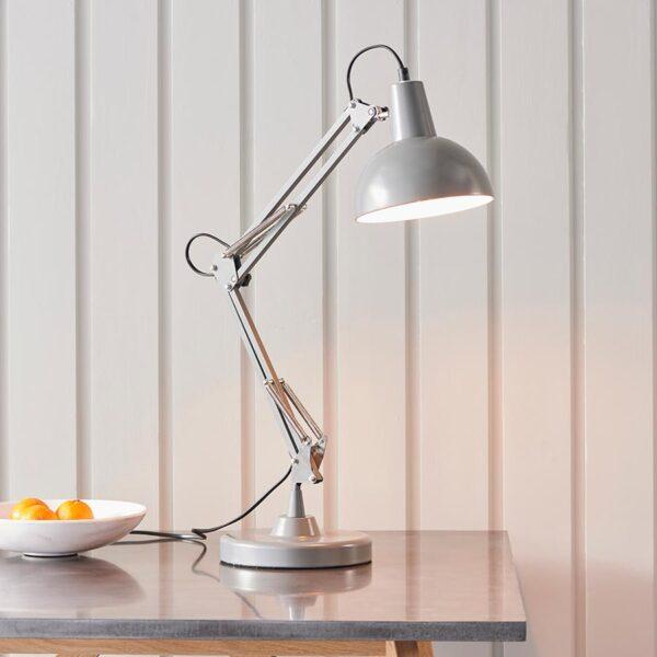 Endon Marshall Adjustable Angle Desk Table Lamp Slate Grey