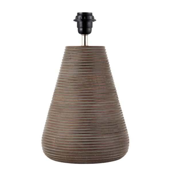Endon Mahalla 1 Light Antique Grey Wood Table Lamp Base Only