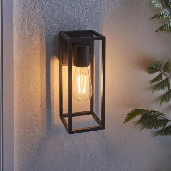 Herbert Modern 1 Light Outdoor Wall Open Box Lantern Textured Black