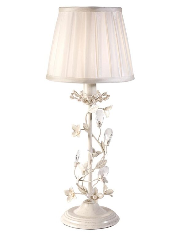 Endon Lullaby Floral 1 Light Table Lamp Country Cream & Gold