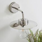 Endon Addison 1 Light Polished Stainless Steel Outdoor Wall Light IP44