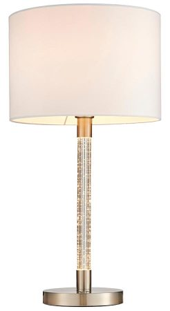 Endon Andromeda Table Lamp Acrylic Bubbles White Shade Satin Chrome