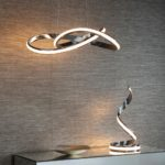 Endon Aria 35w Dimmable LED Pendant Ceiling Light Polished Chrome