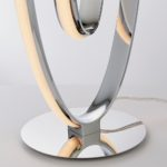 Endon Aria Contemporary 16w LED Loop Table Lamp Polished Chrome