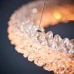Endon Neve Dimmable LED 2 Ring Crystal Pendant Ceiling Light Chrome