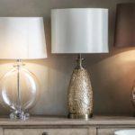 Endon Dahlia Antique Brass 1 Light Table Lamp Capiz Shell Ivory Shade