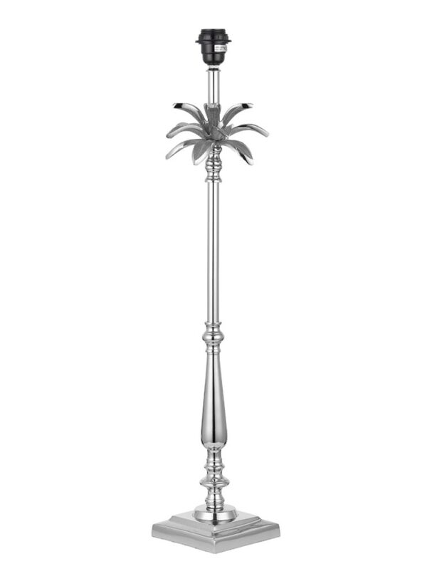 Endon Leaf Large Candlestick Table Lamp Base Only Polished Nickel