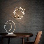 Endon Eternity Dimmable 3 Light LED Ceiling Pendant Matt Nickel Crystal