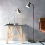 Mayfield Retro Style 1 Light Desk Reading Lamp Matt Black & Bronze