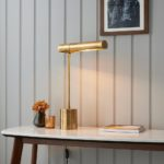 Endon Hiero Classic Colonial Style 1 Light Solid Brass Desk Task Lamp