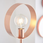 Endon Hoop Contemporary 1 Light Floor Lamp Brushed Copper