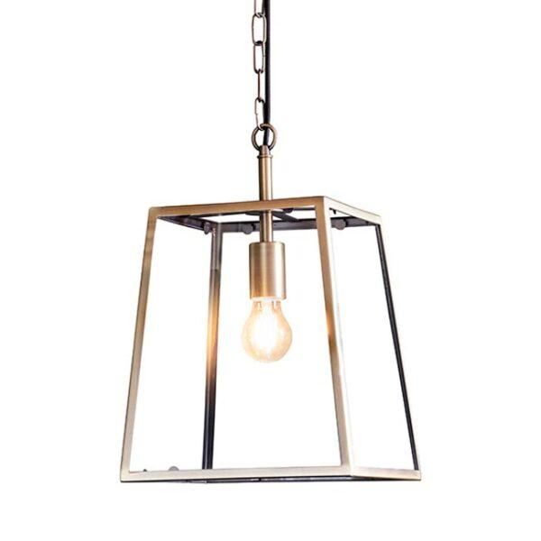 Hurst 1 light tapered hanging lantern in antique brass main image