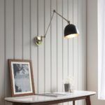 Lehal Classic 1 Lamp Solid Brass Swing Arm Wall Light Polished Nickel