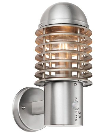 Endon Louvre Outdoor PIR Wall Light 304 Stainless Steel IP44