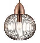 Endon Nicola 1 Light Wire Globe Pendant Ceiling Light Antique Copper