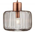 Endon Nicola 1 Light Wire Drum Pendant Ceiling Light Antique Copper