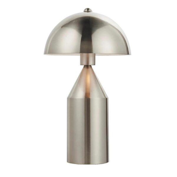 Endon Nova Contemporary 1 Light Table Lamp Brushed Nickel