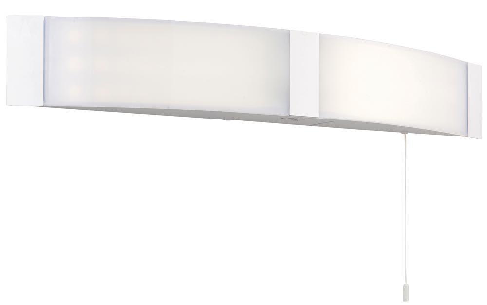 Franklite 2 Light Over Mirror Switched Bathroom Light With: Endon Onan LED Bathroom Mirror Light Shaver Socket Switch