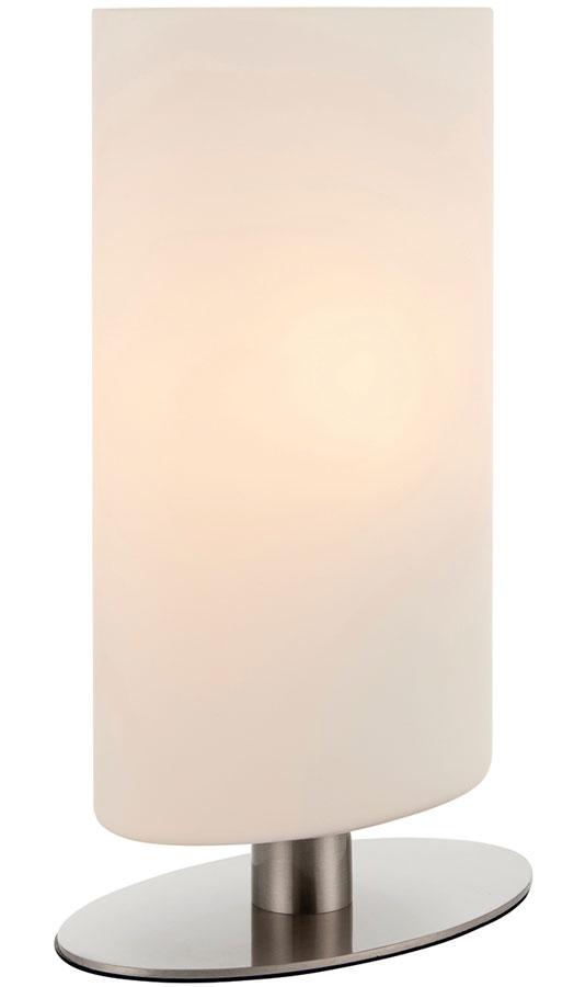 Palmer Touch Dimmer Table Lamp Satin Nickel Matt Opal Glass