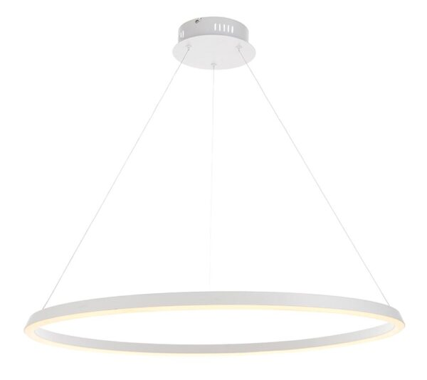 Endon Staten 45w Dimmable LED Architectural Ceiling Pendant White