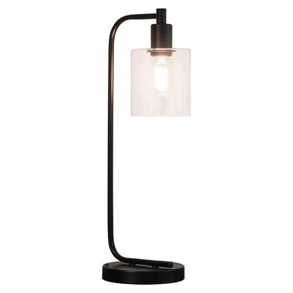 Endon Toledo 1 Light Modern Industrial Style Table Lamp Matt Black