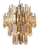 Endon Viviana 12 Light Champagne Crystal Chandelier Polished Chrome