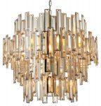 Endon Viviana Large 15 Light Champagne Crystal Chandelier Chrome
